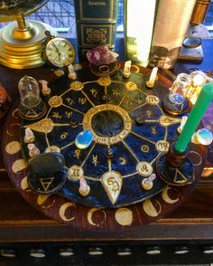 Pagan Wiccan Crystal Divination Altar Large