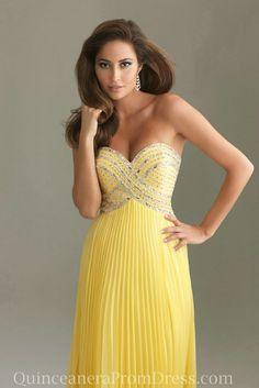 2c33a4fe720d Chiffon Strapless Beaded Empire Yellow Prom Dress Outlet,Chiffon Strapless  Beaded Empire Yellow Prom Dress