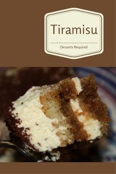 Tiramisu, that heavenly Italian creation, takes me to a very happy place that I never knew of as a child.  A true 'pick me up'!