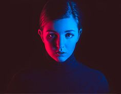 Photography - Red & Blue on Behance Colour Gel Photography, Creative Portrait Photography, Creative Portraits, Studio Portraits, Light Photography, Inspiring Photography, Flash Photography, Beauty Photography, Senior Portraits