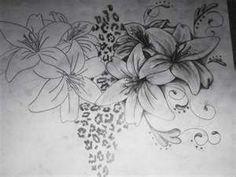 leopard print flowers tattoos