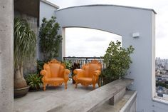 Modern Triplex in Sao Paolo by Guto Requena these chairs are so damn royally cute!
