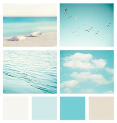 beachy - palette by me - photograhpy by Carolyn Cochrane - (http://www.etsy.com/listing/85405613/beach-photography-set-summer-beach-photo)