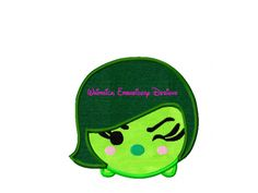 Disgust Inside Out Tsum Tsum Machine Embroidery Applique Design INSTANT DOWNLOAD