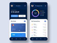 Crypto Wallet App by Aravind Little Jack Ui Design Mobile, Mobile Application Design, App Ui Design, User Interface Design, Flat Design, Layout, Web Design Examples, App Design Inspiration, Mobile App Ui