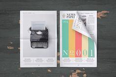 Newspaper Mock-Up Set by PuneDesign on @creativemarket