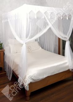 Bed Canopy. White with internal frame
