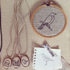 bird embroidery, edward & lilly.