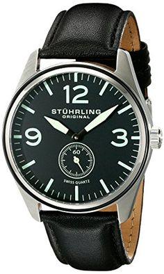 £87.59  Stuhrling Original Aviator Men's Quartz Watch with Black Dial Analogue Display and Black Leather Strap 931.01 Stuhrling Original http://www.amazon.co.uk/dp/B00NIG2JES/ref=cm_sw_r_pi_dp_cN3Ywb04HX8Q2
