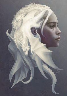 Khaleesi // Game of Thrones Amazing fan art! Game of Thrones Fan Art with Daenerys Targaryen and dragons as her hair. Dessin Game Of Thrones, Arte Game Of Thrones, Game Of Thrones Artwork, Game Of Thrones Khaleesi, Game Of Thrones Poster, Game Of Thrones Characters, Game Thrones, 3d Fantasy, Fantasy Kunst