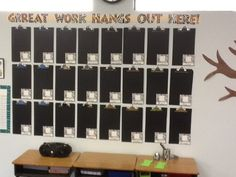 LOVE this idea to make a bulletin board for displaying student work using clipboards!