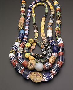 "Necklaces included in the exhibition ""African Beaded Art: Power and Adornment"".  Smith College Feb to June, 2008"