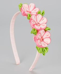 Look what I found on #zulily! Pink Triple Flower Headband by Picki Nicki Hair Bowtique #zulilyfinds