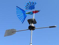 Glasvogel windwijzer; glas, glasfusie