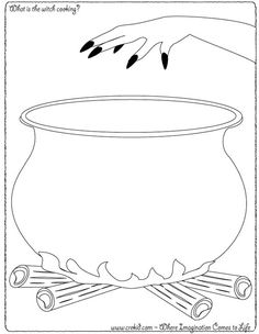 Witch Pot Coloring Page | Halloween - What is the witch cooking? CreKid.com - Creative Drawing ...