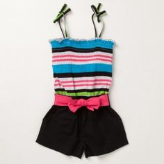Toddler Girls Striped Romper