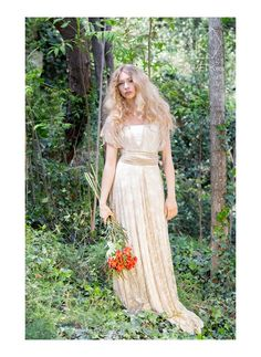 BOHO CHIC WEDDING DRESS IN GOLDEN LACE - GALA BOHEMIAN  The straps of this convertible and versatile, bohemian wedding dress can be wrapped in countless different ways, making it possible for you to find your own personal style, one that matches your personality and that makes you feel the most comfortable and beautiful on your big day.