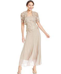 Alex Evenings Lace Chiffon Dress and Jacket