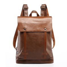 31.53$  Buy here - http://aliiro.shopchina.info/go.php?t=32651265432 - Fashion Men's Multifunction Pu Leather Backpack School Bags For Teenagers Vintage Laptop Backpacks Waterproof Travel Backpack  #aliexpressideas