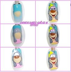 Manicure, Nails, Cartoon Characters, Foto E Video, Cute Dogs, Nail Art, Instagram, Finger Nails, Enamels