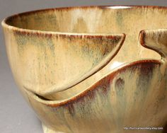 Yarn Bowl Autumn Cinnamon Cream Pumpkin Glaze by HurricanePottery,