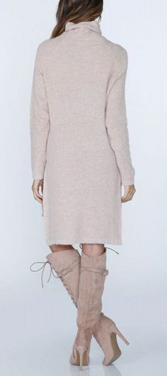 Cotton Candy Sweater Tunic in Peach