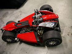 Engine by Ferrari, handlebars by BMW: The world's most expensive quad bike goes on sale for a cool Custom Motorcycles, Custom Bikes, Cars And Motorcycles, Reverse Trike, Ferrari, 4 Wheels Motorcycle, Monocycle, Ducati Superbike, Bike Engine