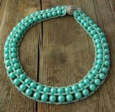 Free pattern for necklace Minty - Note other patterns below schema  ~ Seed Bead Tutorials