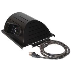 """AKOMA Dog Products Hound Heater Dog House Furnace Deluxe with Cord Protector Black 10"""" x 10"""" x 4.5"""""""