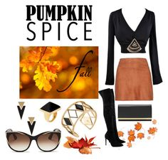 Pumpkin Spice by lena-kontos on Polyvore featuring Alice + Olivia, Kendall + Kylie, Ted Baker, Rebecca Minkoff, Kenneth Jay Lane, Yves Saint Laurent and Thierry Lasry