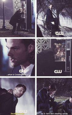 [gifset] 9x16 Blade Runners #SPNS9 #Dean #Sam #Crowley