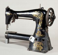 Singer cylinder arm sewing machine, Model No. 17-16, Serial No. G 4099399, made in Elizabeth, New Jersey, USA in 1915