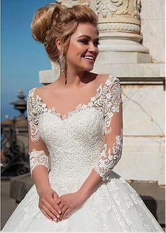 Wonderful tulle & organza v-neck neckline ball gown wedding dresses with . - the pictures - Wonderful Tulle & Organza V-Neck Neckline Ball Gown Wedding Dresses With … – - Wedding Dress Organza, Elegant Wedding Dress, Perfect Wedding Dress, Cheap Wedding Dress, Dream Wedding Dresses, Bridal Dresses, Wedding Gowns, Lace Dress, Tulle Wedding