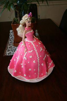 Barbie cake with fondant