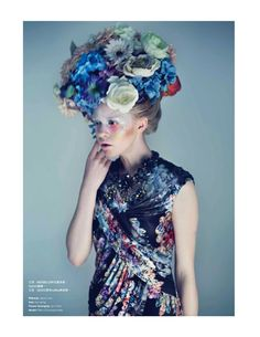 visual optimism; fashion editorials, shows, campaigns & more!: full blossom: pille t by lamb for harper's bazaar hong kong march 2013