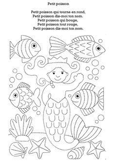 """.. Exercice point a relier """" De la mer """" .."""