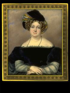 F. Moutier    Lady in Black Dress with Cashmere Turban    1836