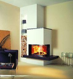 Kachelofen modern Foyer and Entryway Ideas Kachelofen Modern Home Fireplace, Modern Fireplace, Living Room With Fireplace, Fireplace Design, Living Rooms, Japanese Home Decor, Foyer Decorating, Fireplace Inserts, Home Fashion