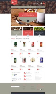 PrestaShop Theme , Coffee Store