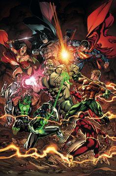 #Justice #League #Fan #Art. (JUSTICE LEAGUE #11 Cover) By: FERNANDO PASARIN & MATT RYAN. (Wonder Woman, Batman, Superman, Amazo, Cyborg, Flash, Aquaman, Green Lanterns, Simon Baz, Power Ring!) ÅWESOMENESS!!!™ ÅÅÅ+