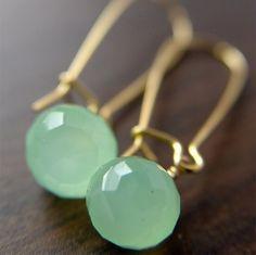 Limon chalcedony drop earrings by friedasophie on Etsy