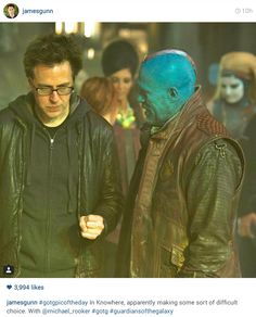 In Knowhere, apparently making some sort of difficult choice. Yondu Udonta, Merle Dixon, Michael Rooker, James Gunn, Mcu Marvel, Marvel Movies, Guardians Of The Galaxy, Marvel Cinematic Universe, Behind The Scenes