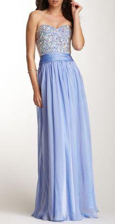 Rhinestone Encrusted Sweetheart Gown