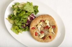 cauliflower and roasted red pepper flatbreads