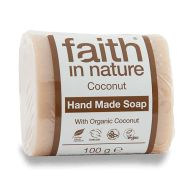 Faith in Nature Coconut Soap. Made with organic coconut, this pure soap is a little dose of tropical luxury. Green Tea Soap, Organic Green Tea, Omega Oils, Coconut Soap, Natural Body Wash, Pure Soap, Vegan Society, Shower Gel, Soap Making