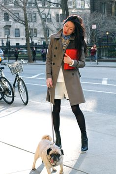 with the weather finally warming up in new york, the marissa webb tyler trench coat is perfect for a walk around the city with my max. Fall Fashion 2016, Autumn Winter Fashion, Fall Winter, Street Look, Street Style, City Outfits, One Banana, Kinds Of Clothes, Mode Inspiration