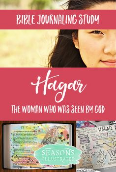 BIBLE JOURNALING HAGAR - Join 3,500 women at www.SeasonsIllustrated.com for Women of Valor, our free twelve-week Bible journaling Bible study on the women of the Bible! #Bible #BibleStudy #BibleJournaling