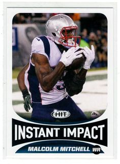 Sports Cards Football – 2017 Sage HIT (Instant Impact) Rookie Malcolm Mitchell  – 2 Card Lot