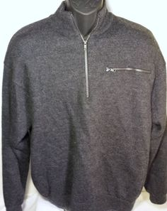 Cabela's Mens XL Tall Half Zip Pullover Sweater Jacket 100% Wool #Cabelas #12Zip