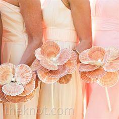 Seashell Bridesmaid Bouquets